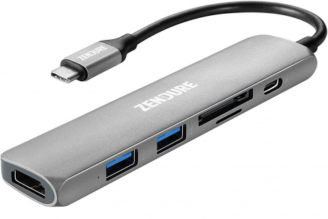 6in1 USB-C Hub 49W PD Digital AV Port Adapter-Kabel HDMI 4K USB 3.0 3.1 micro-SD