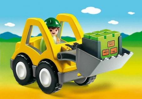 Playmobil 6775 Radlader Bagger Spielzeug Fahrzeug bewegliche Schaufel Baustelle