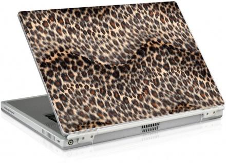 """Notebook Skin 14"""" 15"""" 15, 4"""" Leopard Plüsch Fell Aufkleber Laptop Sticker Folie"""