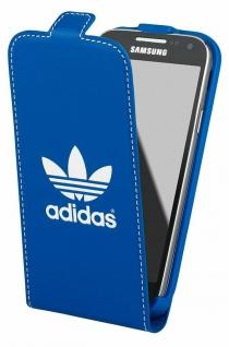 Adidas Flip-Cover Klapp-Tasche Schutz-Hülle Case Etui für Samsung Galaxy S4 Mini