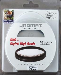 Unomat UV-Filter 72mm UV Filter Speerfilter DHG vergüted für DSLR Objektiv Foto