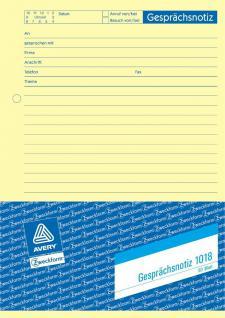 Avery Zweckform 1018 Gesprächs-Notiz DIN A5 50 Blatt Protokoll Formular Vorlage
