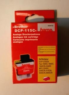Hama Analog Druckerpatrone Print Cartridge für Brother DCP-115C Magenta Rot 13ml