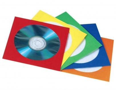 Hama 100x Papier-Hüllen CD-Hüllen Sleeves CD DVD Blu-Ray Sichtfenster CD-Taschen
