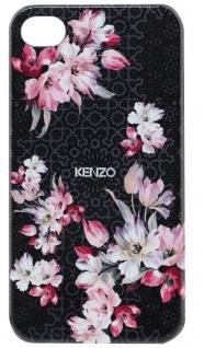 Kenzo Hardcase Nadir Black Cover Schutz-Hülle Case Bumper für Apple iPhone 4s 4