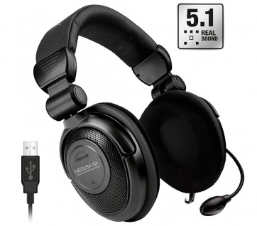 Speedlink Medusa NX USB 5.1 Surround PC Gaming Headset Gamer Kopfhörer Over-Ear