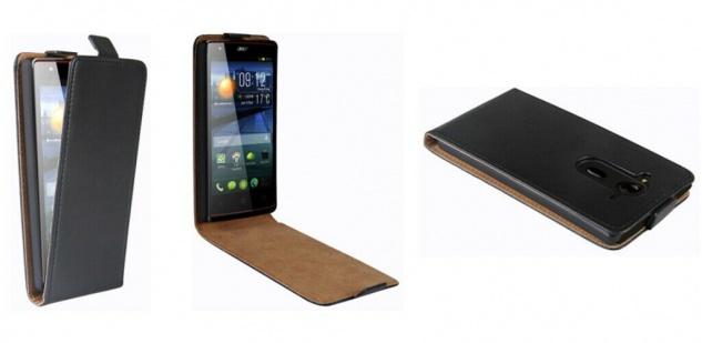 Patona Slim Flip Case Klapp-Tasche Schutz-Hülle für Acer Liquid E3 / E3 Duo Plus