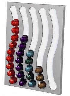 Hama Kapsel-Halter Wand-Halterung Kapsel-Spender Rack für 50x Nespresso Kapseln