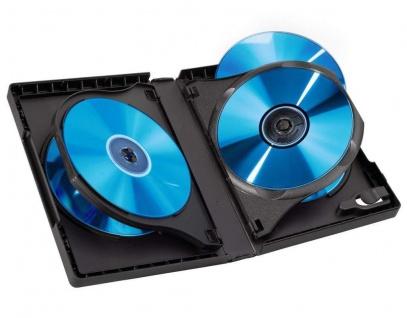Hama 3x DVD-Hüllen für 5 DVDs 5er 5-Fach Leer-Hülle Box Case CD DVD Blu-Ray Disc