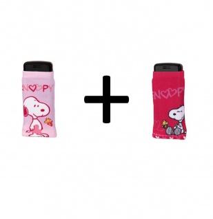 2er Set J-Straps Peanuts Snoopy in Love & Snoopy Sweet Handy-Socke Handy-Tasche