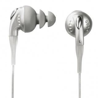 Hama Strap-In-Ear Stero Kopfhörer Headset Silber ME-458 für Handy MP3-Player