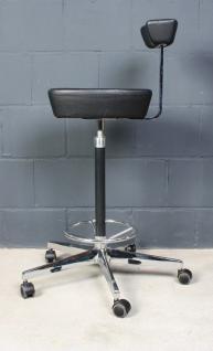 Vitra George Nelson Perch Chair Arbeitshocker Bar-Hocker Leder schwarz