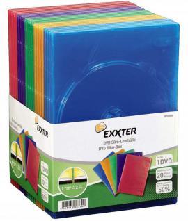 Hama 20x SLIM DVD DVD-Rom Blu-Ray CD Leerhülle Schutz-Hülle DVD-Hüllen Case Box