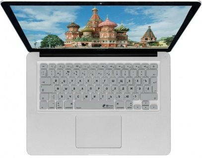 Tastatur-Abdeckung Skin Cover Deutsch auf Russisches Layout für MacBook Pro Air