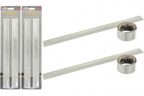4x Set Klemm-Band Sicherheit Reflektion Reflektor-Band Leucht-Armband Klick-Band