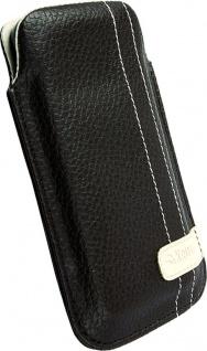 Krusell Gaia Mobile Pouch M brown Leder-Tasche Etui Flap Bag Hülle