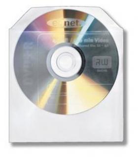 CD CD-Rom DVD DVD-Rom Kunststoffhüller Sleeves mit Sichfenster 100er Pack