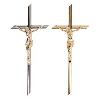 Grabmal-Kreuz Grab-Kreuz Urnen-Kreuz Jesus Korpus Kruzifix für Grabsteine