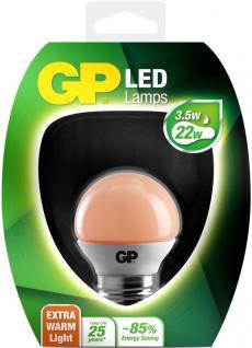 GP LED Mini Birne E27 3, 5W/22W Extra Warmweiß Lampe Golf-Ball Kugel Leuchtmittel