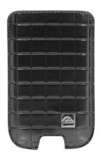 Quiksilver Leder Pouch Tasche Case Etui Schutz-Hülle universal Apple Samsung HTC
