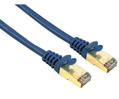 Hama 3m Netzwerk-Kabel Cat5e STP Lan-Kabel Patch-Kabel Cat 5e Gigabit Ethernet