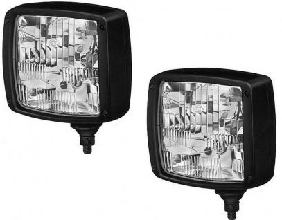 Hella 2x Haupt-Scheinwerfer Arbeits-Leuchte 12V 24V Front-Lampe NKW LKW Claas
