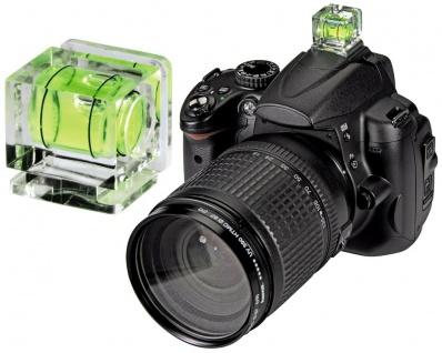 Hama Wasserwaage Kamera Standard-Blitzschuh Foto DSLR SLR DSLM Camcorder Stativ