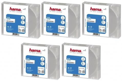 Hama 25 CD-Hüllen Slim-Case Leer-Hüllen CD DVD Blu-Ray BR CD-Taschen 5, 2mm Hülle