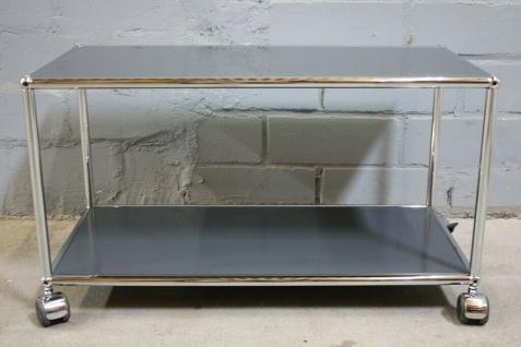 USM Haller Lowboard Regal Tisch Beistell-Tisch 75x35 anthrazitgrau Ablage - Vorschau 2