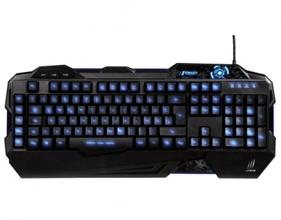 Hama uRage Exodus USB Gaming Keyboard Tastatur Beleuchtet Macro-Keys Anti-Ghost