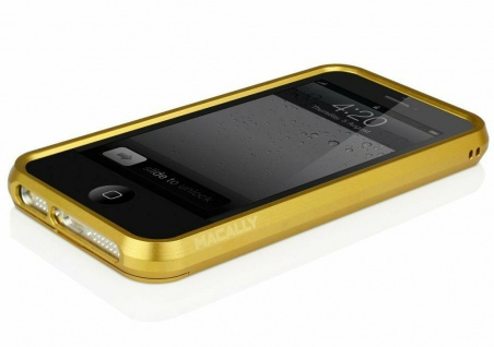 macally Aluminium Frame gold Cover Alu-Rahmen Hülle Bag für Apple iPhone SE 5S 5