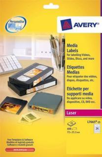 Avery Zweckform 600x Etiketten A4 Mini Data Cartridge DDS DAT 8D etc Band Bänder
