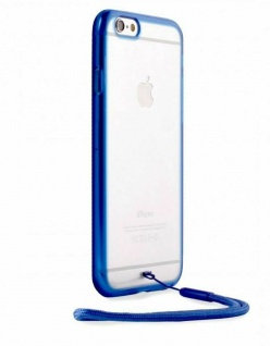 Puro Back Case Wrist Lace Cover mit Handschlaufe für Apple iPhone 6/6s