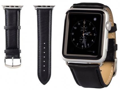 Hama Uhren-Armband Uhren-Band Classic Style Schwarz für Apple Watch iWatch 38mm