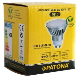 Patona LED Strahler GU10 6W / 40W Warmweiß 3000K Lampe Glüh-Birne Leuchtmittel