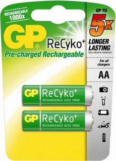 GP Premium 2x AA-Akku ReCyko 1000x wiederaufladbar Mignon HR6 Batterie AA Akkus