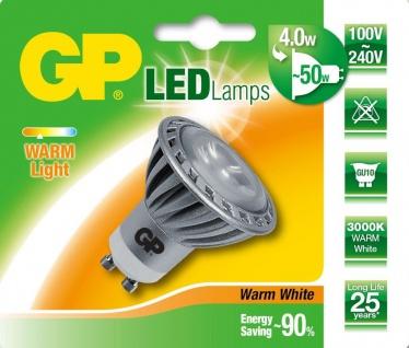 GP LED Strahler GU10 4W / 50W Warmweiß 3000K Lampe Leuchtmittel Birne Reflektor