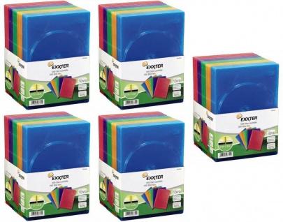Hama 100x SLIM DVD DVD-Rom Blu-Ray CD Leerhülle Schutz-Hülle DVD-Hüllen Case Box