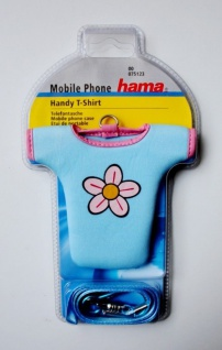 Hama Handytasche Telefontasche T-Shirt Flower inkl. Laneyard Handyhülle Case