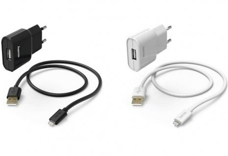 Hama Ladegerät 2.4A USB Lade-Kabel Netzteil für Apple Lightning iPhone 11 8 7 SE