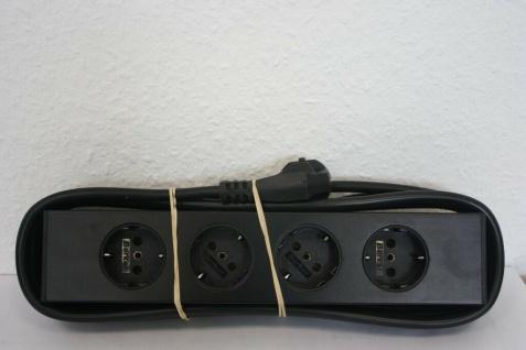 USM Haller schwarz Magnet-Steckdose Steckdosen-Leiste Mehrfachstecker Tisch 4er