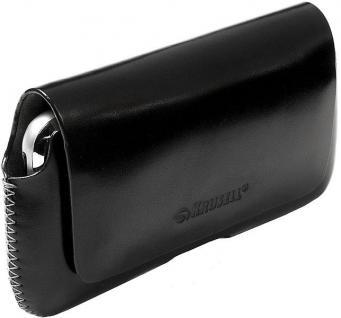 Krusell Hector Mobile Case S black Leder-Tasche Etui Flap Bag Hülle
