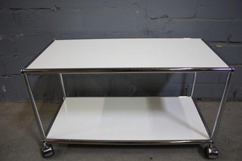 USM Haller Lowboard Regal Tisch Beistell-Tisch 75x35 weiß Ablage Container Regal