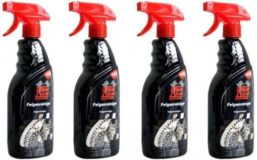 4x Pack Extreme Clean Felgen-Reiniger 500ml Reinigung Alu-Felgen Stahl Chrom etc