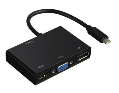 Hama USB C Hub Multi-Port AV Adapter HDMI VGA Display-Port DP Thunderbolt 3 Dock