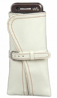 Hama universal Handy-Tasche Kimono weiß Köcher-Tasche Schutz-Hülle Etui Beutel