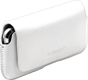 Krusell Hector Mobile Case M-wide white Leder-Tasche Etui Flap Bag Hülle