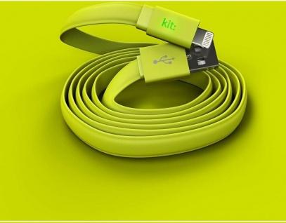 Kit FRESH Lightning-Kabel USB-Kabel 1m LED Ladekabel Datenkabel für Apple MFI