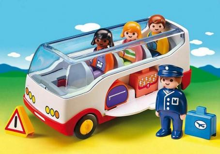Playmobil 6773 Reisebus Busfahrer und Reisegruppe Spielzeug-Bus mit Gepäckfach