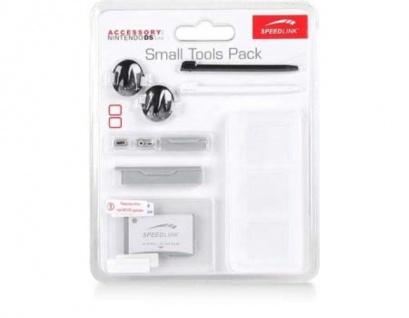 Speedlink 8in1 Set Folie Touch Pen Stifte Spiele-Hülle für Nintendo DS Lite BLK